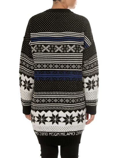MSGM - Black and white overfit pullover