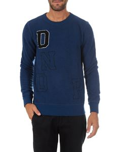 Dondup - Blue crewneck pullover with lettering