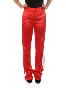 MSGM - Red flared trousers