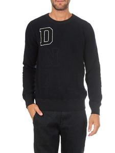 Dondup - Black crewneck pullover with lettering