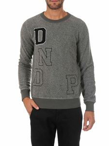 Dondup - Grey crewneck pullover with lettering