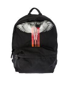 "Marcelo Burlon - Black ""Wing Barcode"" backpack"