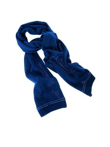 Dondup - Blue scarf with logo