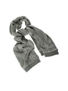 Dondup - Grey scarf with logo