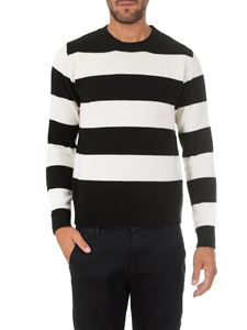 Dondup - Black and white striped crewneck pullover