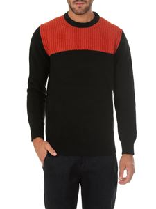 Dondup - Black and red crew-neck pullover
