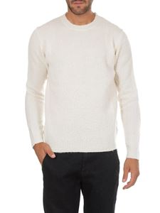 Dondup - Pullover bianco in lana e cachemire