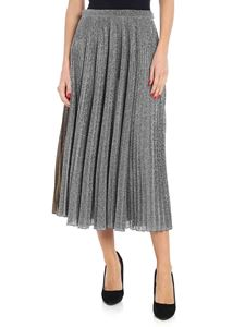 Philosophy di Lorenzo Serafini - Pleated skirt in gold and silver lamé