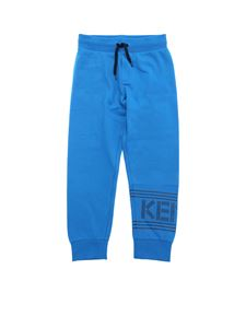 Kenzo - Branded turquoise sweat pants