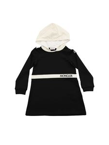 Moncler Jr - Black hooded dress