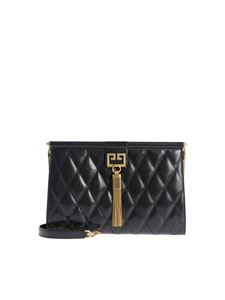 Givenchy - Black clutch with golden logo