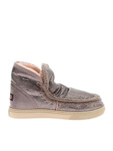 """Mou - Silver and pink crackle """"Eskimo"""" sneakers"""