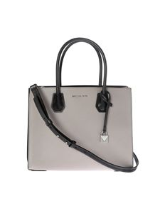 "Michael Kors - ""Mercer"" grey leather bag"