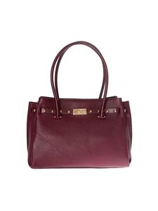 "Michael Kors - Burgundy ""Tote Addison"" bag"