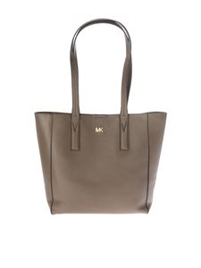 "Michael Kors - ""Junie"" mud color leather bag"