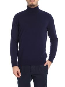 Drumohr - Blue cashmere turtleneck