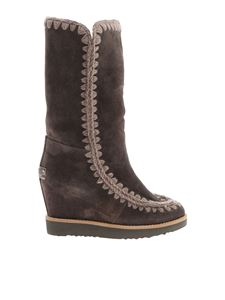 "Mou - ""French Toe Eskimo Tall"" gray boots"