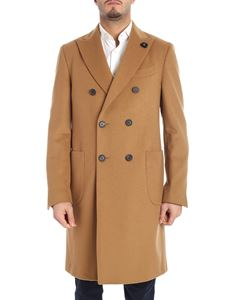 Lardini - Camel color double-breasted coat
