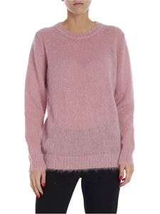 Moncler - Pink crew-neck pullover