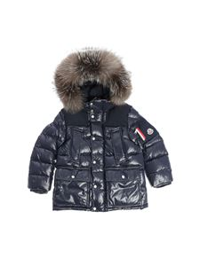 "Moncler Jr - Dark blue ""Loupmont"" down jacket"