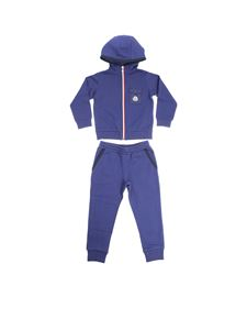 Moncler Jr - Blue tracksuit with logo
