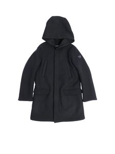 Emporio Armani - Blue padded coat with logo