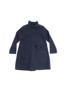 Il Gufo - Blue coat with ruffles