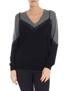 """Pinko - """"Alyssa"""" sweater with lace details"""