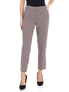 """Pinko - Purple and red """"Bello"""" trousers"""