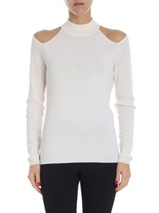 Michael Kors - White sweater with cut-out details