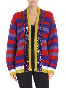 """Pinko - """"Slide"""" cardigan with multicolor stripes"""