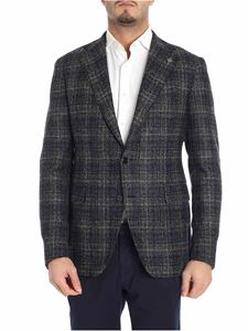 Tagliatore - Single-breasted blue, black and gray jacket