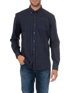 Fay - Blue and light blue checked button down shirt