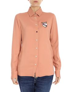 Stella Jean - Salmon pink shirt with patches