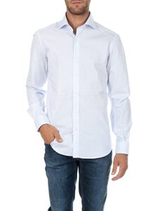 Fay - White and light blue shirt line stick