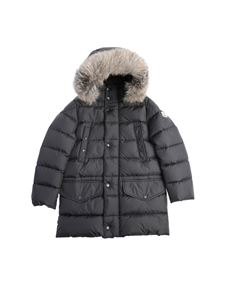 "Moncler Jr - ""Montliard"" dark grey down jacket"