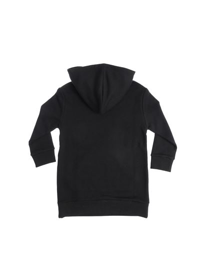 Gucci - Black branded hooded dress