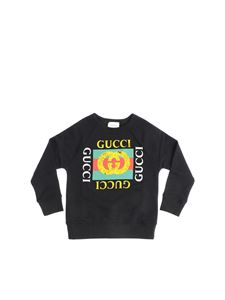 Gucci - Black sweatshirt with logo print