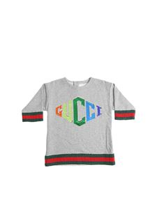 Gucci - Gray sweatshirt with sequin logo