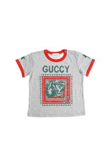 Gucci - Gray t-shirt with logo print