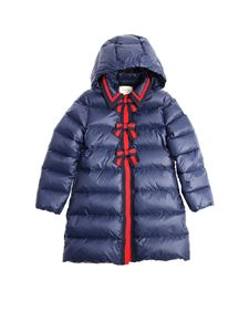 Gucci - Blue down jacket with bows