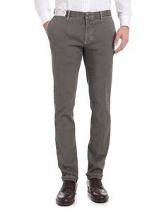 Incotex - Gray and black textured cotton trousers