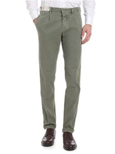 Incotex - Green textured trousers