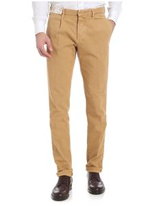 Incotex - Sand-colored textured trousers