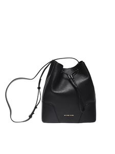 "Michael Kors - Black ""Cary"" bucket bag"