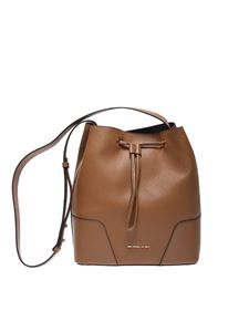 "Michael Kors - Brown ""Cary"" bucket bag"