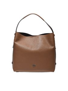 "Michael Kors - ""Griffin"" brown shoulder bag"