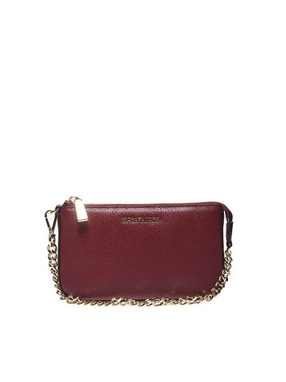 "Michael Kors - Red ""Jet set Chain"" clutch"
