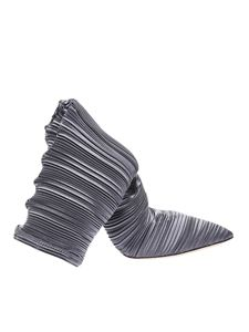 Casadei - Pleated dark grey boots