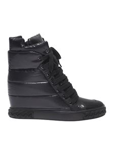 Casadei - Black sneaker with inner wedge